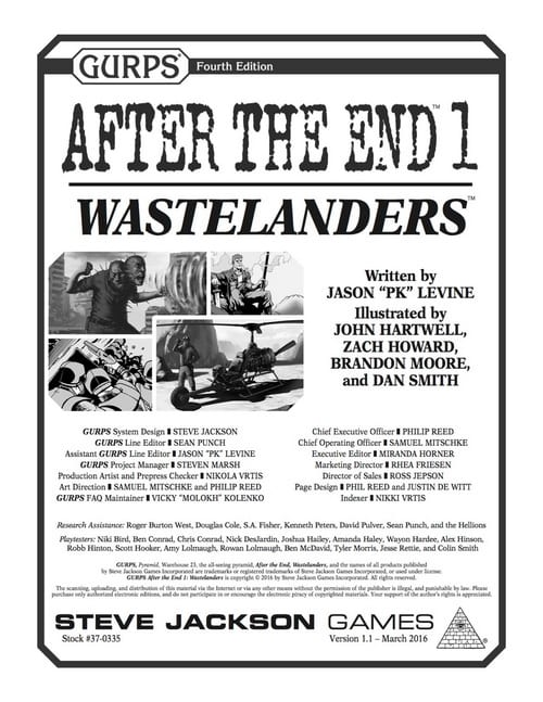 Sunday Review: GURPS After the End 1 – Wastelanders