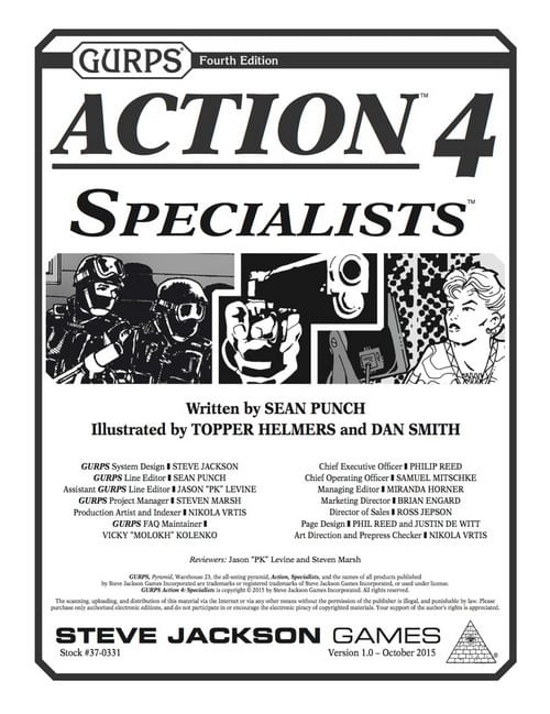 Sunday Review: GURPS Action 4: Specialists