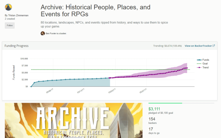 Review: Archive – Historical People, Places, and Events for RPGs