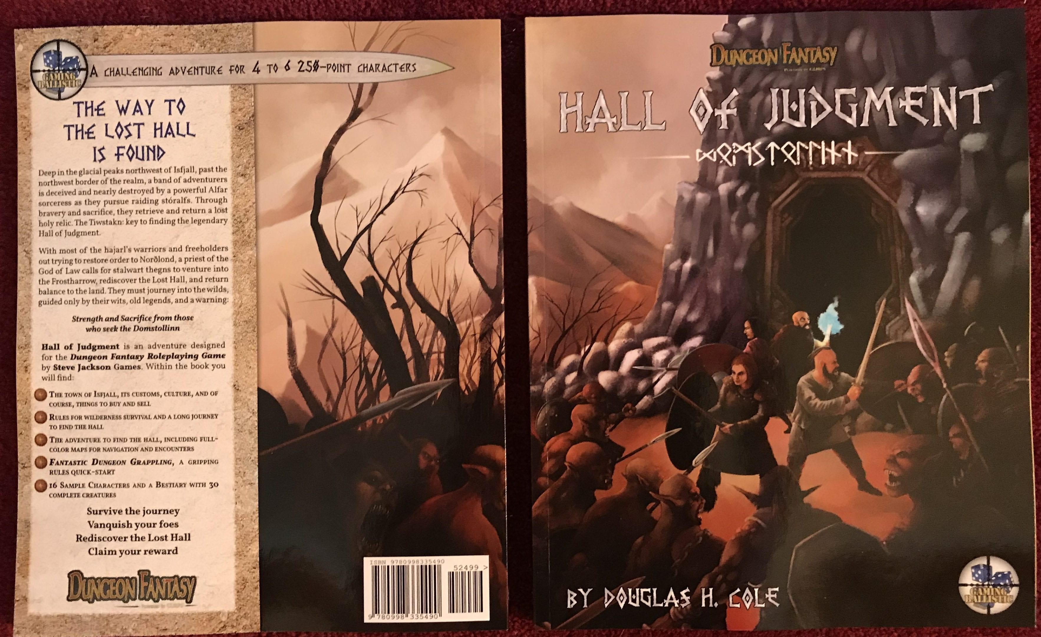 Hall of Judgment supplement for the Dungeon Fantasy RPG!
