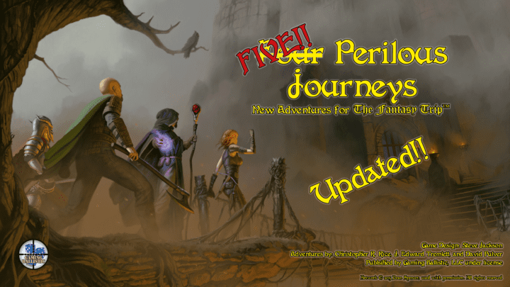 "PDF Distribution underway for ""Four Perilous Journeys"" Kickstarter"