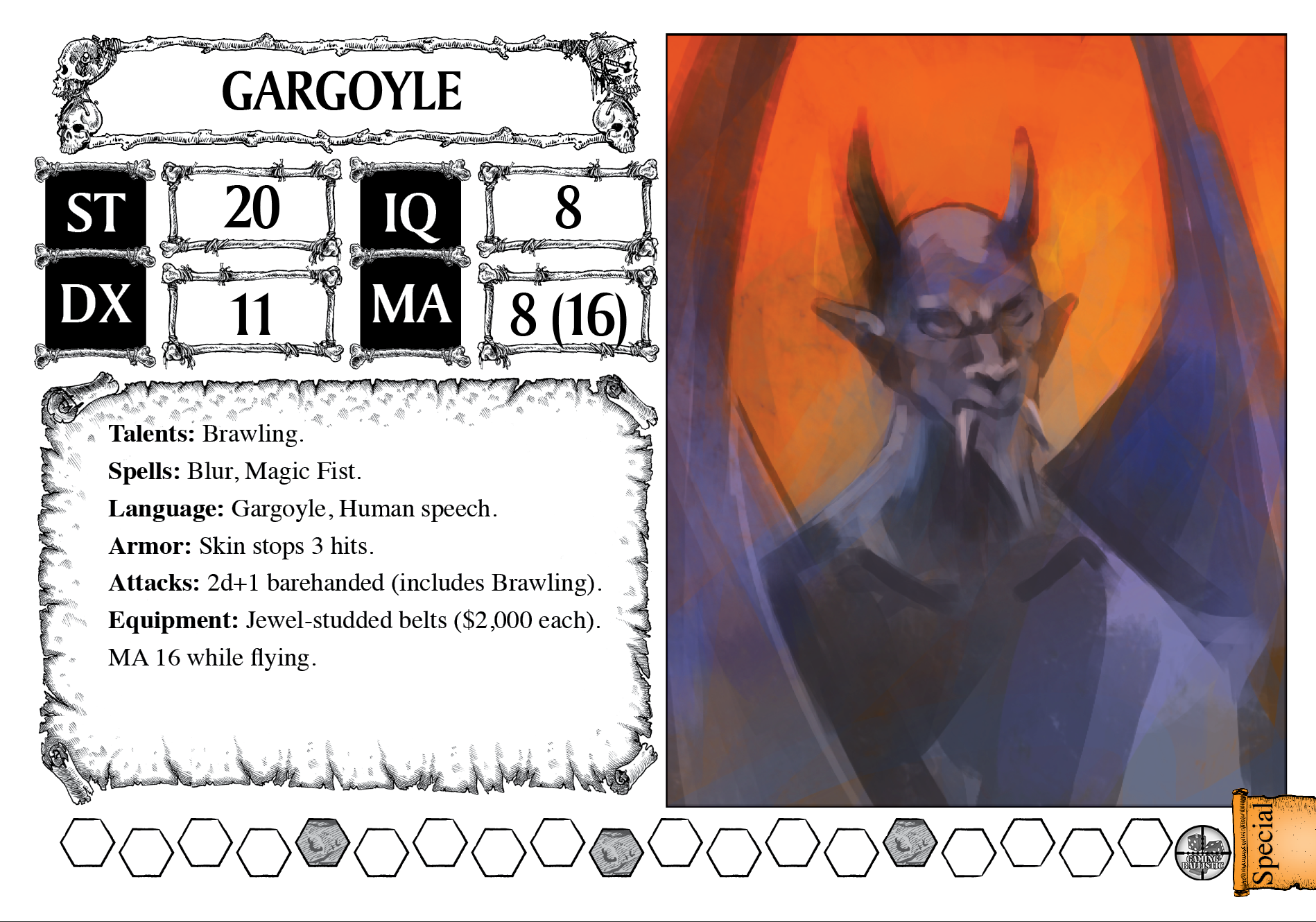 Gargoyle, with placeholder art