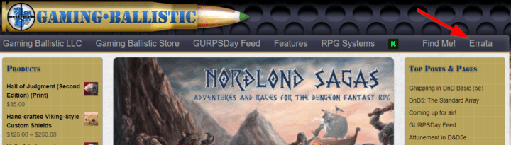 Last Call for Errata on ALL FOUR BOOKS of the Nordlond Sagas Kickstarter